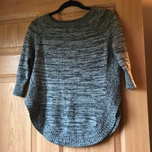 Express grey and black multi sweater
